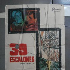 Cine: CDO 913 39 ESCALONES KENNETH MORE MCP POSTER ORIGINAL 70X100 ESTRENO. Lote 198211806