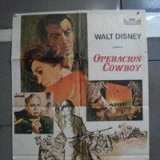 Cine: CDO 917 OPERACION COWBOY ROBERT TAYLOR WALT DISNEY POSTER ORIGINAL 70X100 ESTRENO. Lote 198212901