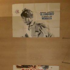 Cine: POSTER CHANTAJE A UN TORERO ALBERTO DE MENDOZA MANUEL BENÍTEZ EL CORDOBÉS DIRECTOR RAFAEL GIL 1963. Lote 198212933
