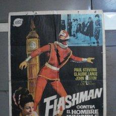 Cine: CDO 924 FLASHMAN CONTRA EL HOMBRE INVISIBLE JANO POSTER ORIGINAL 70X100 ESTRENO. Lote 198218621