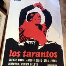 Cine: LOS TARANTOS CARMEN AMAYA ROVIRA BELETA 70 MM POSTER ORIGINAL 70X100 ESPAÑOL. Lote 198290586