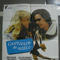 Cine: CDO 933 CASTILLOS DE HIELO ROBBY BENSON LYNN HOLLY JOHNSON PATINAJE POSTER ORIGINAL 70X100 ESTRENO. Lote 198304535
