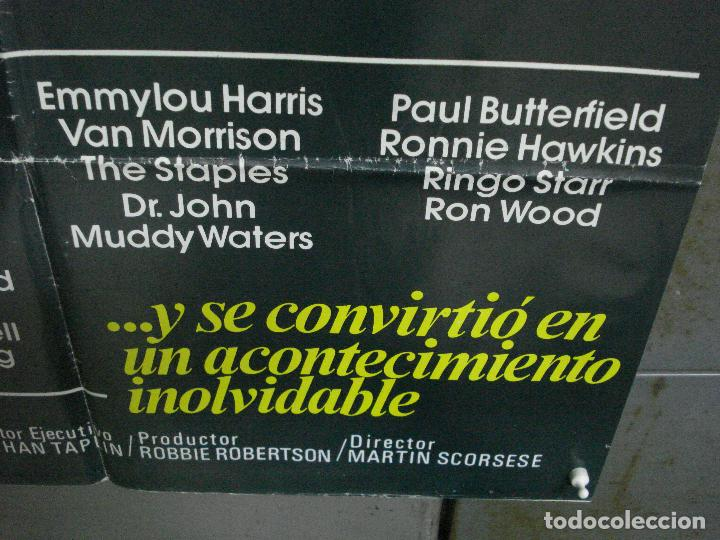 Cine: CDO 951 EL ULTIMO VALS BOB DYLAN THE BAND MARTIN SCORSESE RINGO STARR POSTER ORIG 70X100 ESTRENO - Foto 9 - 198322081