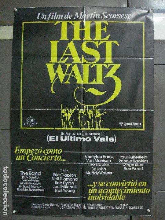 CDO 951 EL ULTIMO VALS BOB DYLAN THE BAND MARTIN SCORSESE RINGO STARR POSTER ORIG 70X100 ESTRENO (Cine - Posters y Carteles - Musicales)