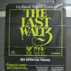 Cine: CDO 951 EL ULTIMO VALS BOB DYLAN THE BAND MARTIN SCORSESE RINGO STARR POSTER ORIG 70X100 ESTRENO. Lote 198322081