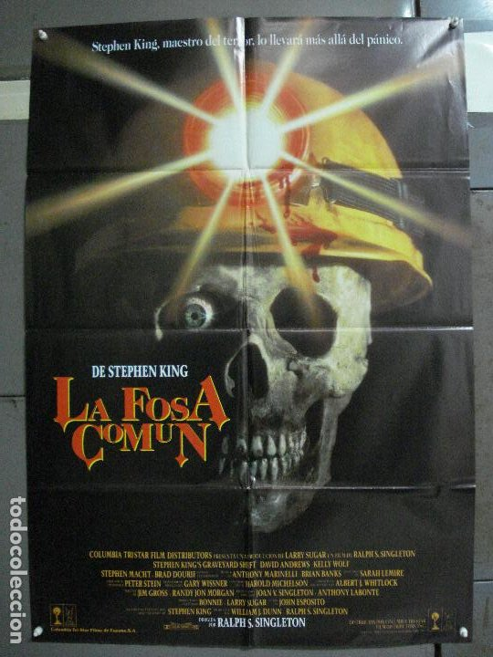 CDO 972 LA FOSA COMUN STEPHEN KING POSTER ORIGINAL 70X100 ESTRENO (Cine - Posters y Carteles - Terror)