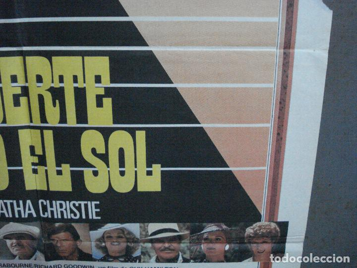 Cine: CDO 968 MUERTE BAJO EL SOL AGATHA CHRISTIE HERCULES POIROT PETER USTINOV POSTER ORIG 70X100 ESTRENO - Foto 8 - 198328413
