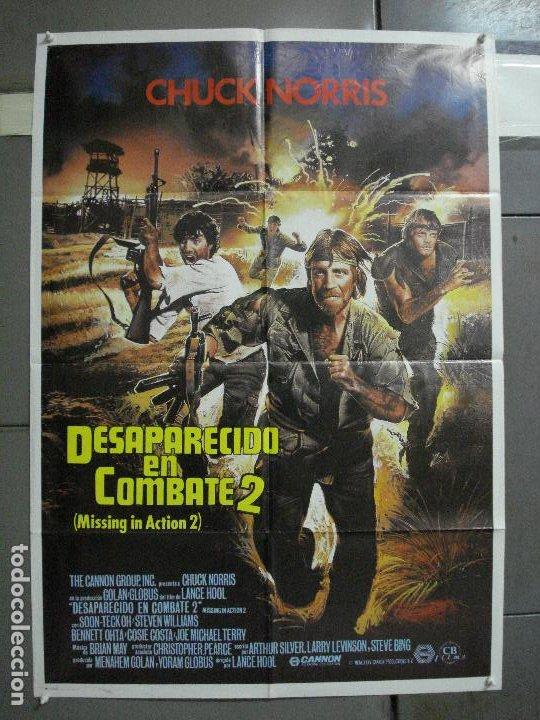 CDO 977 DESAPARECIDO EN COMBATE 2 CHCUK NORRIS POSTER ORIGINAL 70X100 ESTRENO (Cine - Posters y Carteles - Bélicas)