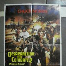 Cine: CDO 977 DESAPARECIDO EN COMBATE 2 CHCUK NORRIS POSTER ORIGINAL 70X100 ESTRENO. Lote 198330213
