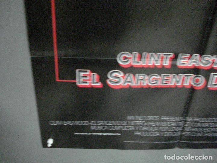 Cine: CDO 1003 EL SARGENTO DE HIERRO CLINT EASTWOOD POSTER ORIGINAL 70X100 ESTRENO - Foto 5 - 198416027