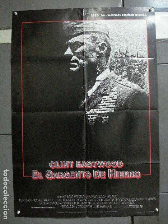 CDO 1003 EL SARGENTO DE HIERRO CLINT EASTWOOD POSTER ORIGINAL 70X100 ESTRENO (Cine - Posters y Carteles - Bélicas)