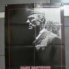 Cinema: CDO 1003 EL SARGENTO DE HIERRO CLINT EASTWOOD POSTER ORIGINAL 70X100 ESTRENO. Lote 198416027