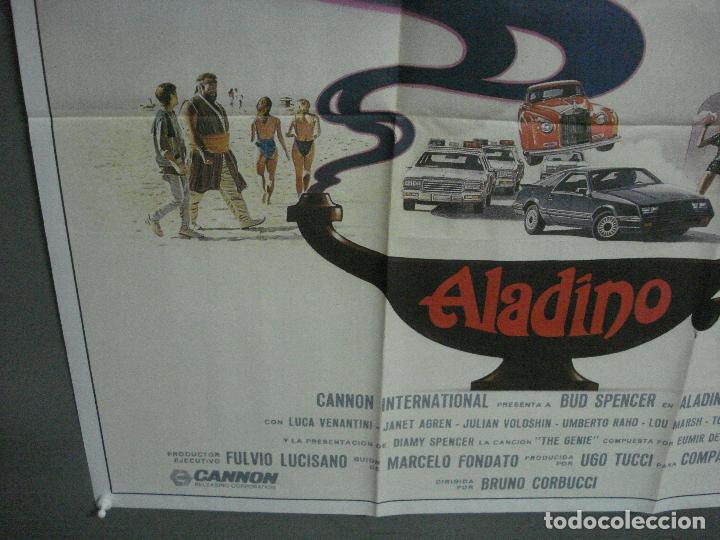 Cine: CDO 1009 ALADINO BUD SPENCER JANET AGREN BRUNO CORBUCCI POSTER ORIGINAL 70X100 ESTRENO - Foto 4 - 198417278