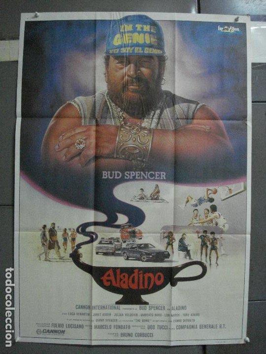 CDO 1009 ALADINO BUD SPENCER JANET AGREN BRUNO CORBUCCI POSTER ORIGINAL 70X100 ESTRENO (Cine - Posters y Carteles - Acción)