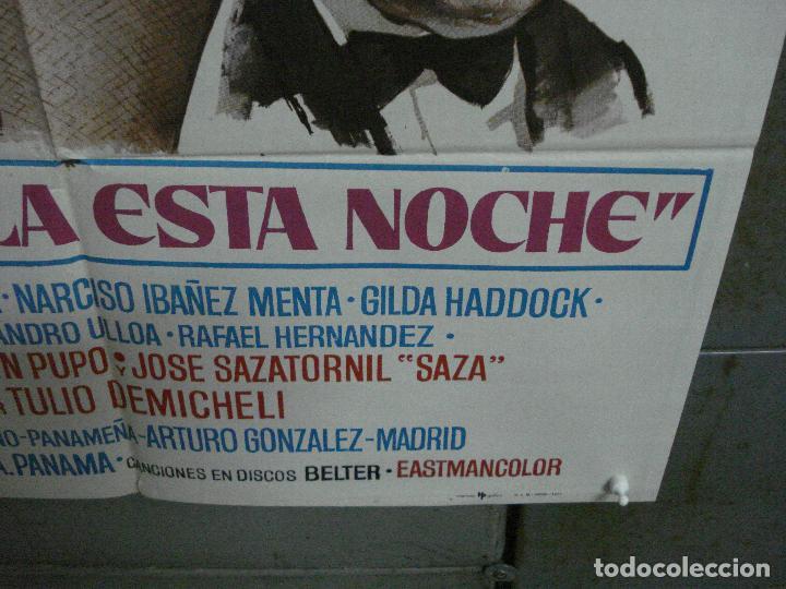 Cine: CDO 1018 PRESTAMELA ESTA NOCHE MANOLO ESCOBAR ANTONIO GARISA POSTER ORIGINAL 70X100 ESTRENO - Foto 9 - 198419581