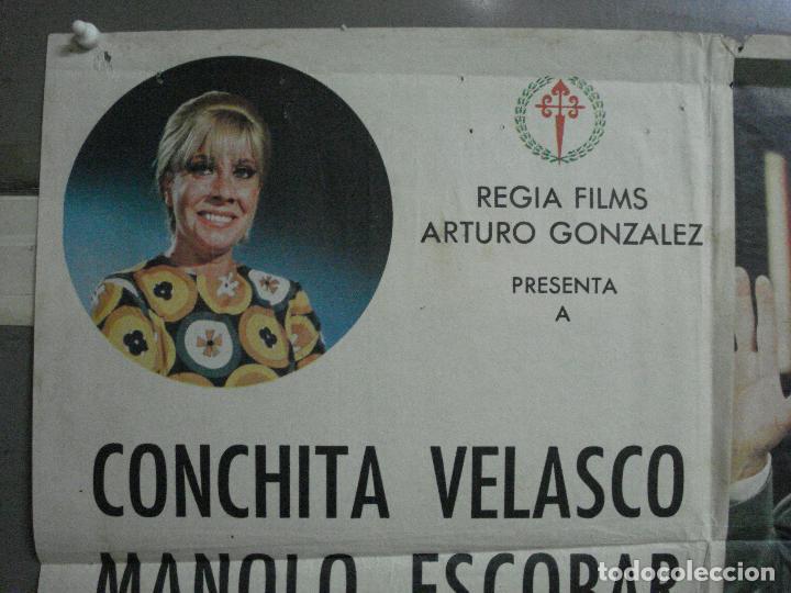 Cine: CDO 1023 JUICIO DE FALDAS MANOLO ESCOBAR CONCHA VELASCO POSTER ORIGINAL 70X100 ESTRENO - Foto 2 - 198420400