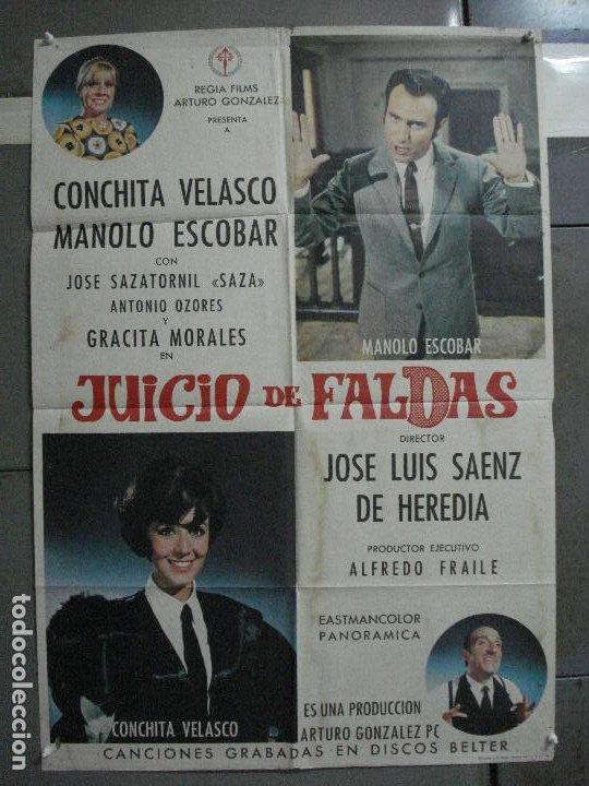 CDO 1023 JUICIO DE FALDAS MANOLO ESCOBAR CONCHA VELASCO POSTER ORIGINAL 70X100 ESTRENO (Cine - Posters y Carteles - Clasico Español)