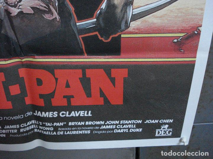 Cine: CDO 1031 TAI-PAN BRYAN BROWN JOAN CHEN JAMES CLAVELL POSTER ORIGINAL 70X100 ESTRENO - Foto 9 - 198456440