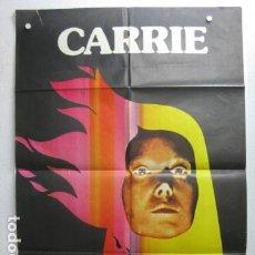 Cinema: CARRIE - POSTER CARTEL CINE ORIGINAL - BRIAN DE PALMA JOHN TRAVOLTA SISSY SPACEK. Lote 198464676