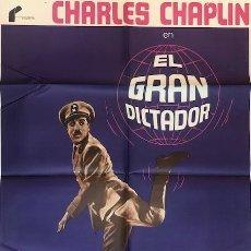Cine: CARTEL ORIGINAL EL GRAN DICTADOR . CHARLES CHAPLIN . AÑO 1978. Lote 198712716