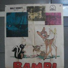 Cine: CDO 1037 BAMBI WALT DISNEY POSTER ORIGINAL 70X100 ESPAÑOL. Lote 198719700