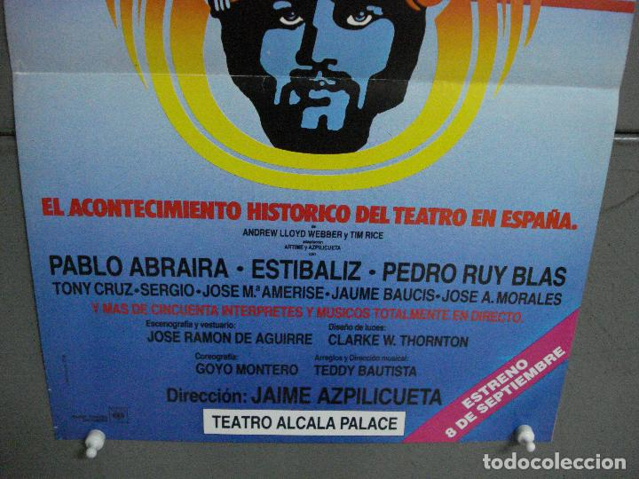 Cine: CDO 1048 JESUCRISTO SUPERSTAR JAIME AZPILICUETA PABLO ABRARIA ESTIBALIZ POSTER ORIGINAL TEATRO - Foto 3 - 198776416