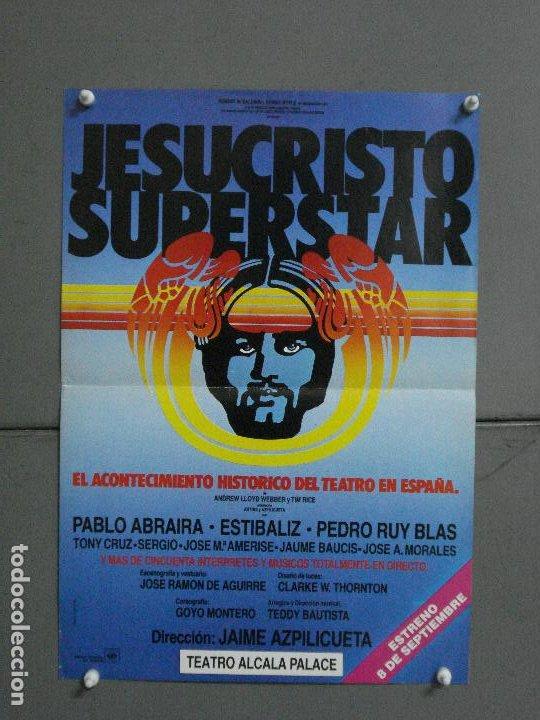 CDO 1048 JESUCRISTO SUPERSTAR JAIME AZPILICUETA PABLO ABRARIA ESTIBALIZ POSTER ORIGINAL TEATRO (Cine - Posters y Carteles - Clasico Español)