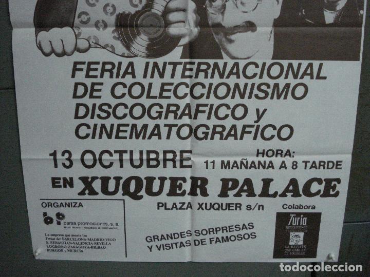 Cine: CDO 1049 FERIA INTERNACIONAL DE COLECCIONISMO DISCOGRAFICO Y DE CINE VALENCIA POSTER ORIGINAL 70X100 - Foto 3 - 198777027