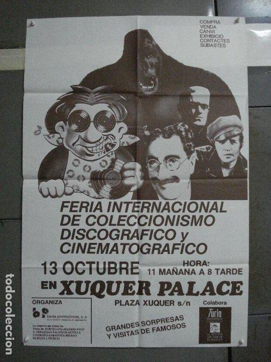 CDO 1049 FERIA INTERNACIONAL DE COLECCIONISMO DISCOGRAFICO Y DE CINE VALENCIA POSTER ORIGINAL 70X100 (Cine - Posters y Carteles - Terror)