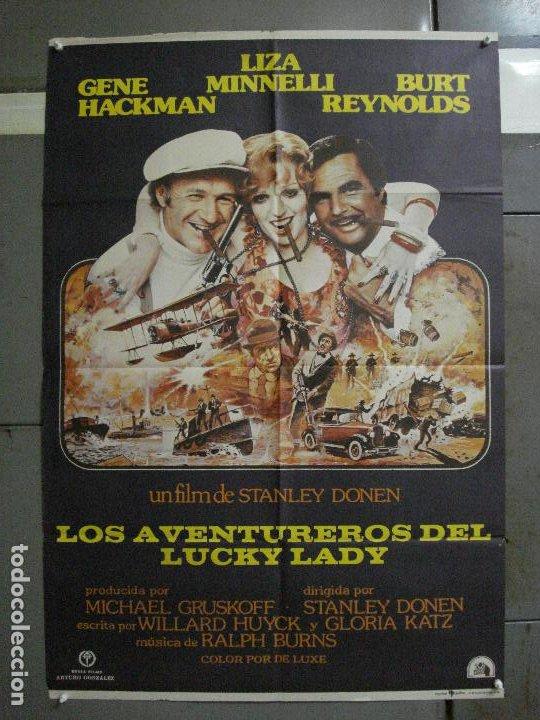 CDO 1052 LOS AVENTUREROS DE LUCKY LADY LIZA MINNELLI BURT REYNOLDS DONEN POSTER ORIG 70X100 ESTRENO (Cine - Posters y Carteles - Aventura)