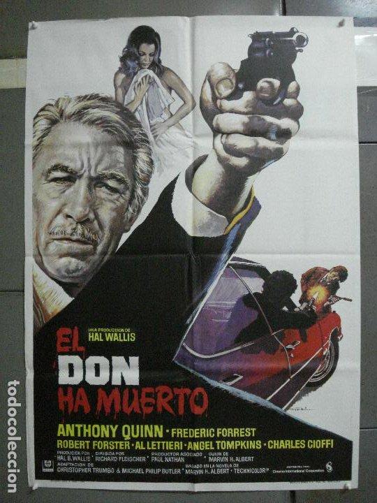 CDO 1065 EL DON HA MUERTO RICHARD FLEISCHER ANTHONY QUINN POSTER ORIGINAL ESTRENO 70X100 (Cine - Posters y Carteles - Suspense)