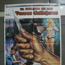 Cine: CDO 1066 EL REGRESO DE LOS PERROS CALLEJEROS VALENTIN TRUJILLO POSTER ORIGINAL ESTRENO 70X100. Lote 198785918