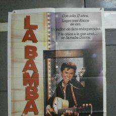 Cine: CDO 1074 LA BAMBA LOU DIAMOND PHILLIPS RITCHIE VALENS ROCK'N'ROLL POSTER ORIGINAL 70X100 ESTRENO. Lote 198791763
