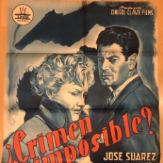 Cine: CARTEL O POSTER ORIGINAL CIFESA CRIMEN IMPOSIBLE?JOSE SUÁREZ NANI FERNÁNDEZ.PERIS ARAGO. Lote 198844265