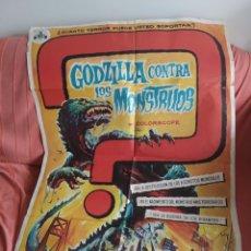 Cine: CARTEL ORIGINAL DE CINE GODZILLA CONTRA LOS MONSTRUOS. Lote 198945466