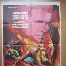 Cine: CARTEL CINE EL JUSTICIERO ROJO ROSSANA PODESTA GEORGE RIVIERE MONTALBAN 1965 C1754. Lote 198968000