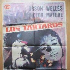 Cine: CARTEL CINE LOS TARTAROS ORSON WELLES VICTOR MATURE 1962 C1755. Lote 198983617