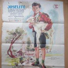 Cine: CARTEL CINE EL RUISEÑOR DE LAS CUMBRES JOSELITO ROBERTO CAMARDIEL JANO 1958 C1758. Lote 198984888