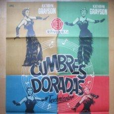 Cine: CARTEL CINE CUMBRES DORADAS KATHRYN GRAYSON JANO C1763. Lote 198988241