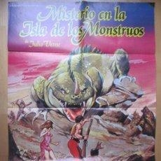 Cinéma: CARTEL CINE MISTERIO EN LA ISLA DE LOS MONSTRUOS JULIO VERNE TERENCE STAMP C1777. Lote 199002927