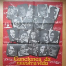 Cine: CARTEL CINE CANCIONES DE NUESTRA VIDA IMPERIO ARGENTINA ANTONIO MOLINA 1975 C1804. Lote 199037446