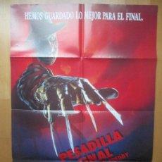 Cine: CARTEL CINE PESADILLA FINAL LA MUERTE DE FREDDY LISA ZANE C1815. Lote 199044078