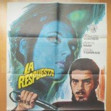 Cinéma: CARTEL CINE LA RESPUESTA FRANCISCO VIADER MARTA MAY1975 C1816. Lote 199044317