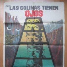 Cine: CARTEL CINE LAS COLINAS TIENEN OJOS SUSAN LAINER ROBERT HOUSTON JANO 1979 C1820. Lote 199046358