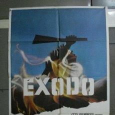 Cine: CDO 1139 EXODO PAUL NEWMAN OTTO PREMINGER SAUL BASS POSTER ORIGINAL ESPAÑOL 70X100 R-76. Lote 199050717