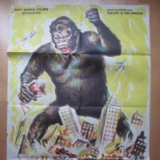 Cine: CARTEL CINE KING KONG FAY WRAY BRUCE CABOT 1965 C1830. Lote 199054332