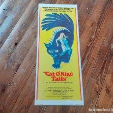 Cine: EL GATO DE LAS NUEVE COLAS (CAT O´NINE TAILS) DARIO ARGENTO CARTEL ORIGINAL USA DE 1971 NO REPRO. Lote 253699895