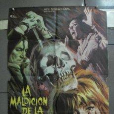 Cine: CDO 1157 LA MALDICION DE LA CALAVERA PETER CUSHING CHRISTOPHER LEE POSTER ORIGINAL 70X100 ESTRENO. Lote 199158500