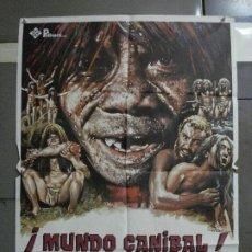 Cine: CDO 1159 MUNDO CANIBAL MUNDO SALVAJE RUGGERO DEODATO MAC POSTER ORIGINAL 70X100 ESTRENO. Lote 199159957