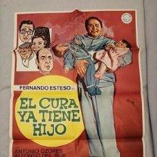 Cine: EL CURA YA TIENE HIJO. CARTEL ORIGINAL. MARIANO OZORES, FERNANDO ESTESO, ANTONIO OZORES. Lote 199304310